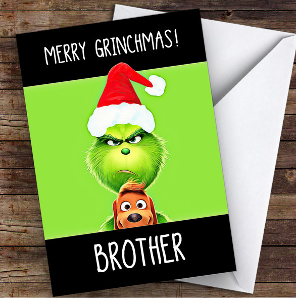 Brother Grinchmas Personalised Christmas Card