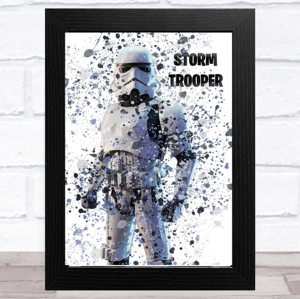 Splatter Art Gaming Fortnite Storm Trooper Kid's Room Children's Wall Art Print