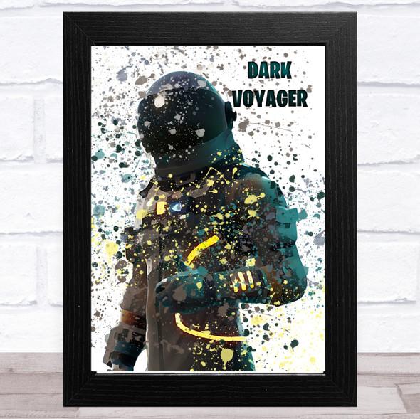 Splatter Art Gaming Fortnite Dark Voyager Kid's Room Children's Wall Art Print