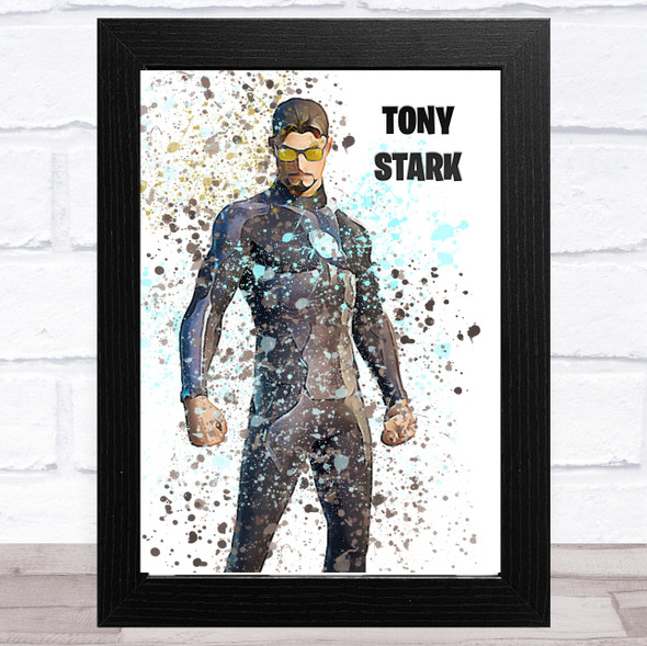 Splatter Art Gaming Fortnite Tony Stark Kid's Room Children's Wall Art Print