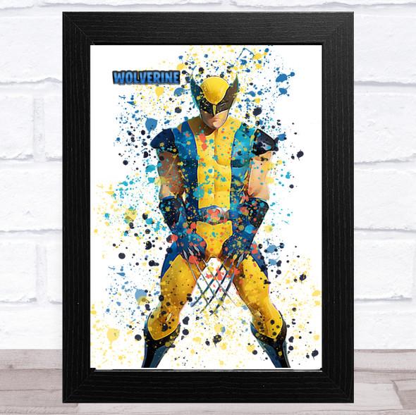 Splatter Art Gaming Fortnite Wolverine Kid's Room Children's Wall Art Print