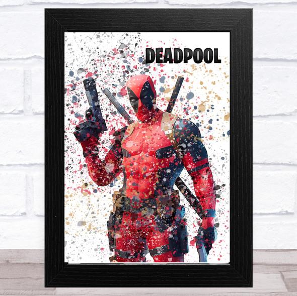 Splatter Art Gaming Fortnite Deadpool Kid's Room Children's Wall Art Print