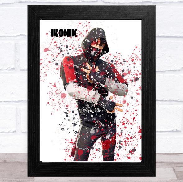 Splatter Art Gaming Fortnite Ikonik Kid's Room Children's Wall Art Print