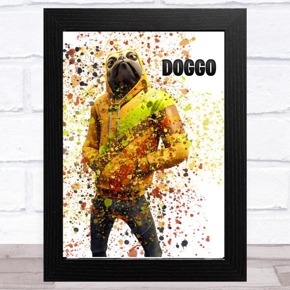 Splatter Art Gaming Fortnite Doggo Kid's Room Children's Wall Art Print