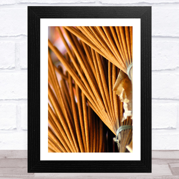 Bunch Of Incense Sticks Abstract Wall Art Print