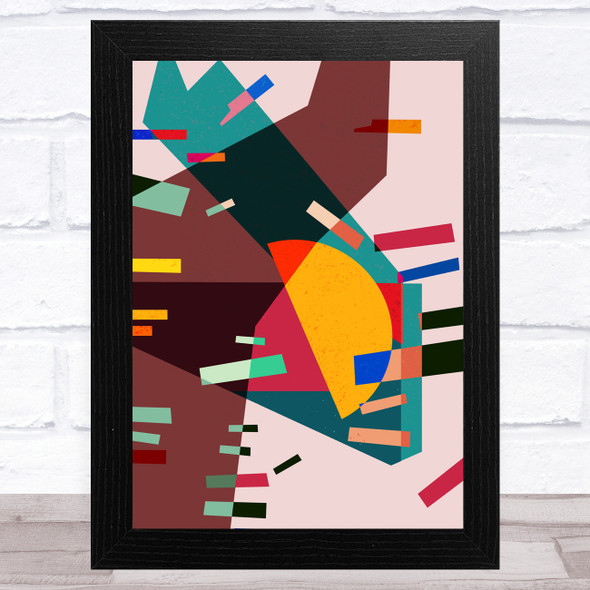 Bright Shatter Abstract Style 1 Wall Art Print