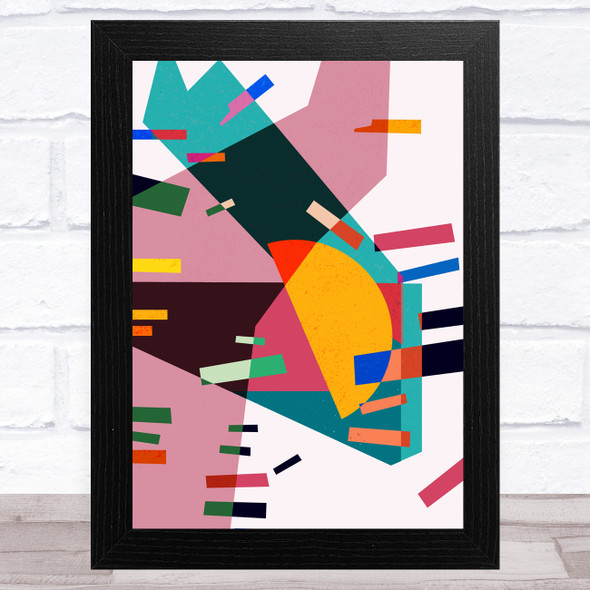 Bright Shatter Abstract Style 2 Wall Art Print
