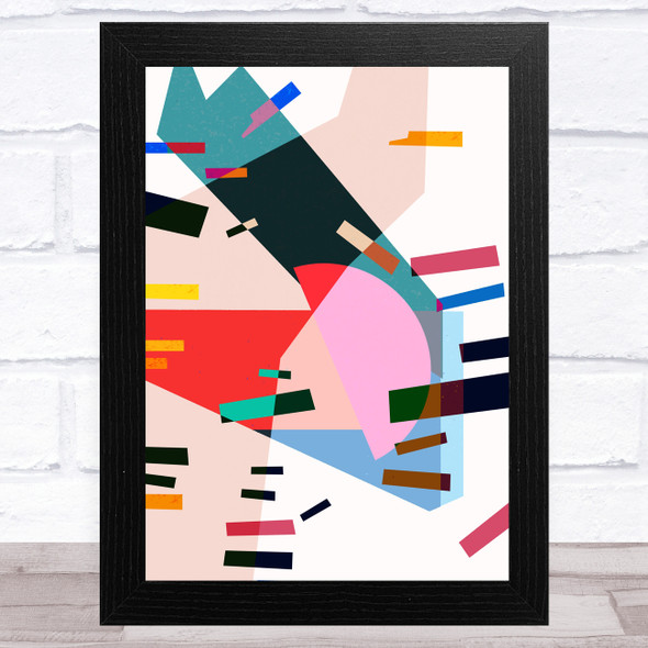 Bright Shatter Abstract Style 3 Wall Art Print