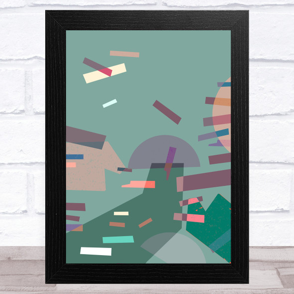 Bright Shatter Abstract Style 6 Wall Art Print