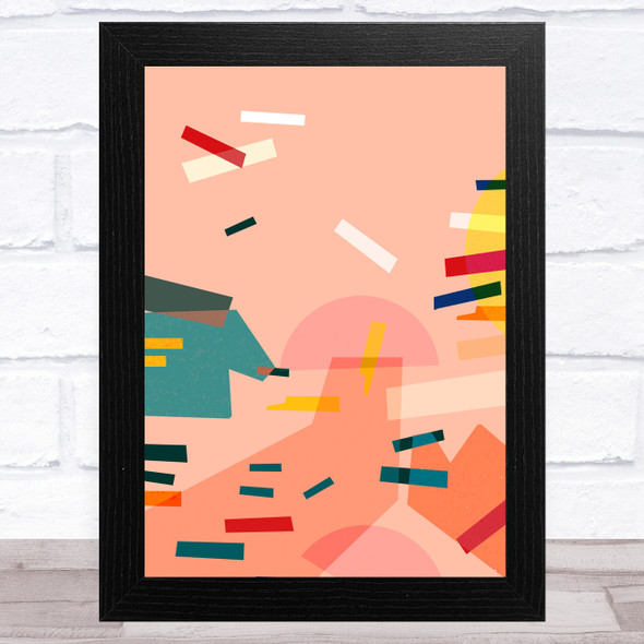 Bright Shatter Abstract Style 7 Wall Art Print