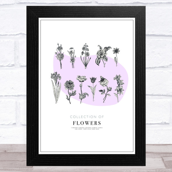 Collection Of Flowers Vintage Wall Art Print