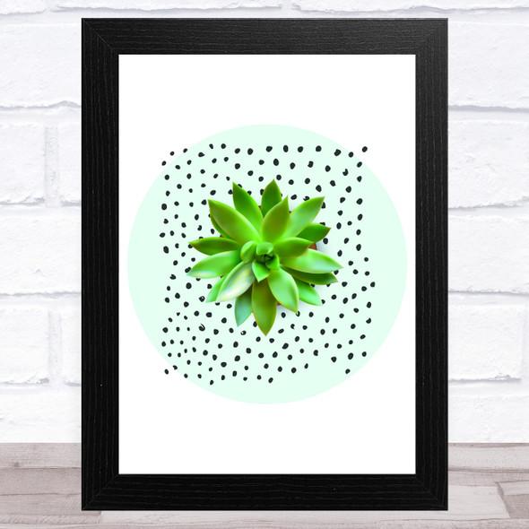 Spotty Cactus Design 3 Wall Art Print