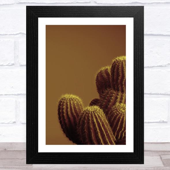 Sepia Cactus Wall Art Print