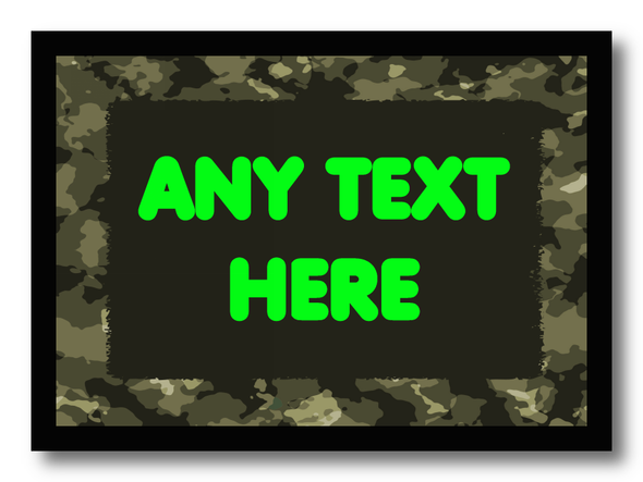 Army Camouflage Personalised Computer Mousemat