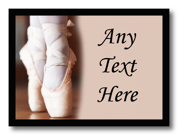 Pretty Ballet Ballerina Personalised Computer Mousemat