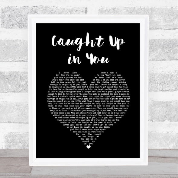 38 Special Caught Up in You Black Heart Song Lyric Music Art Print
