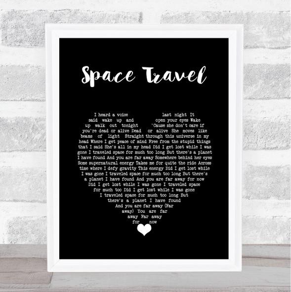 Yellowcard Space Travel Black Heart Song Lyric Music Art Print