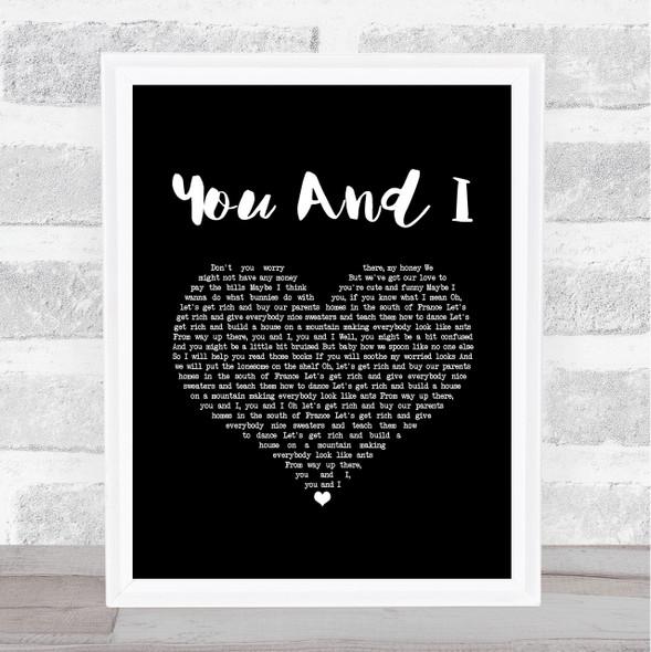 Ingrid Michaelson You And I Black Heart Song Lyric Music Art Print