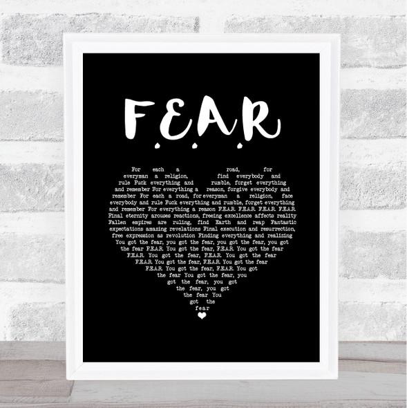 Ian Brown F.E.A.R Black Heart Song Lyric Music Art Print
