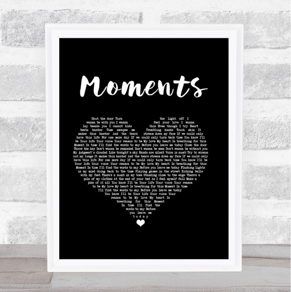 One Direction Moments Black Heart Song Lyric Music Art Print