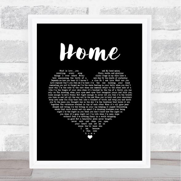 Imelda May Home Black Heart Song Lyric Music Art Print