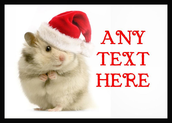 Hamster Christmas Personalised Computer Mousemat