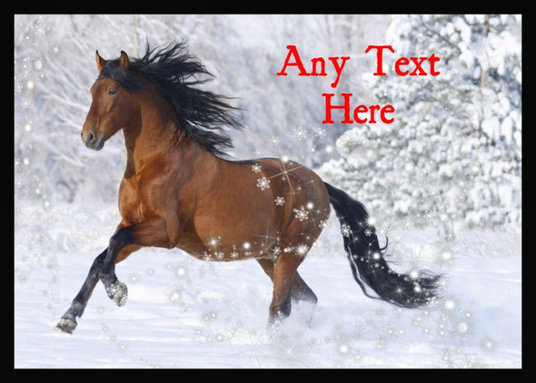 Lovely Horse Christmas Personalised Computer Mousemat