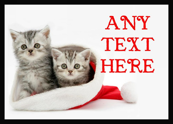 Lovely Kittens Christmas Personalised Computer Mousemat