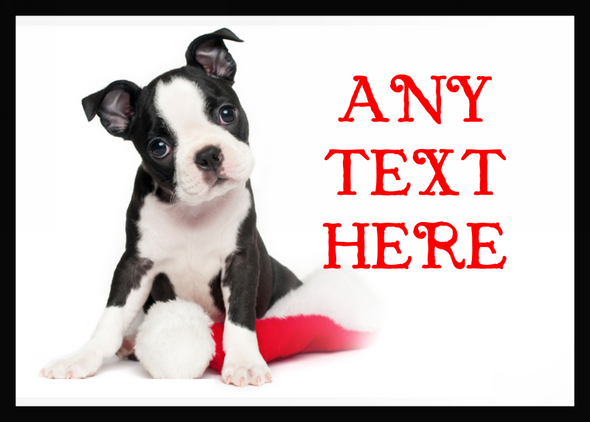 Beautiful Puppy Christmas Personalised Computer Mousemat