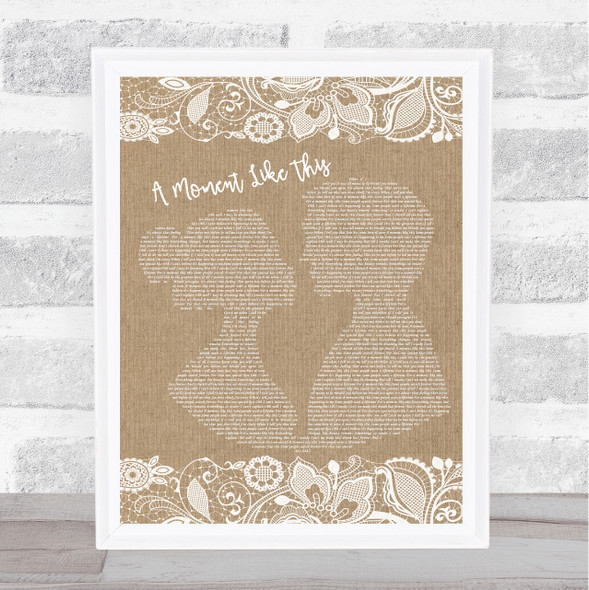 Leona Lewis A Moment Like This Burlap & Lace Song Lyric Music Art Print