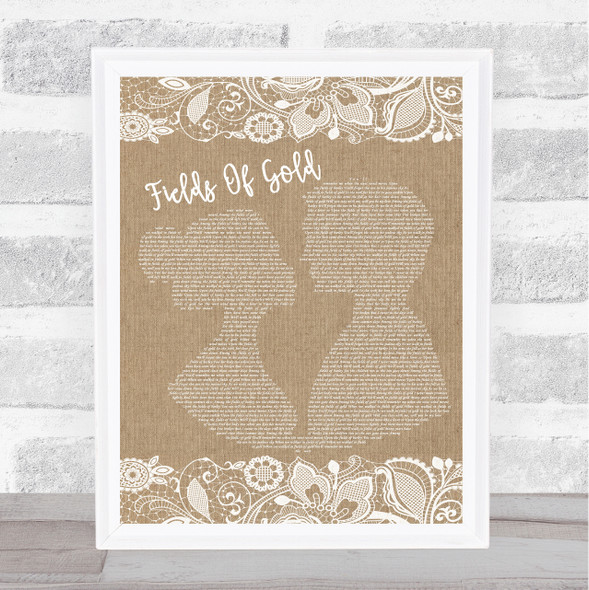 Sting Fields Of Gold Burlap & Lace Song Lyric Music Art Print