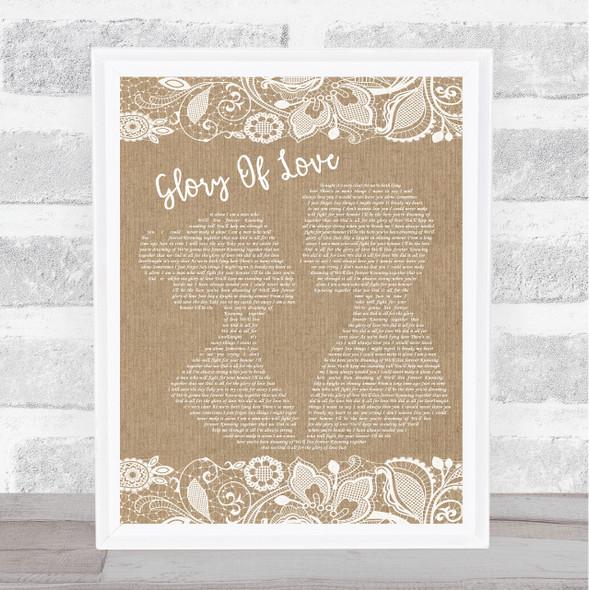 Peter Cetera Glory Of Love Burlap & Lace Song Lyric Music Art Print