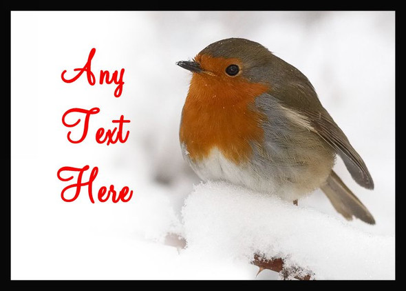 Stunning Robin Christmas Personalised Computer Mousemat