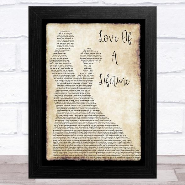 Firehouse Love Of A Lifetime Man Lady Dancing Song Lyric Music Art Print