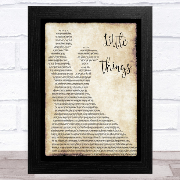 One Direction Little Things Man Lady Dancing Song Lyric Music Art Print