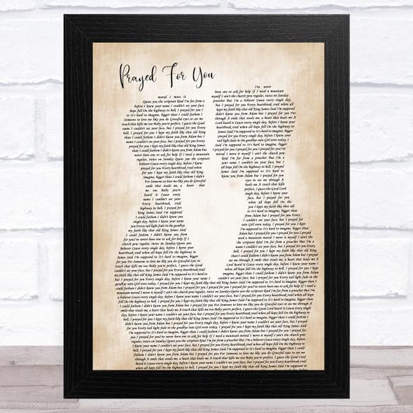 Matt Stell Prayed For You Two Men Gay Couple Wedding Song Lyric Music Art Print