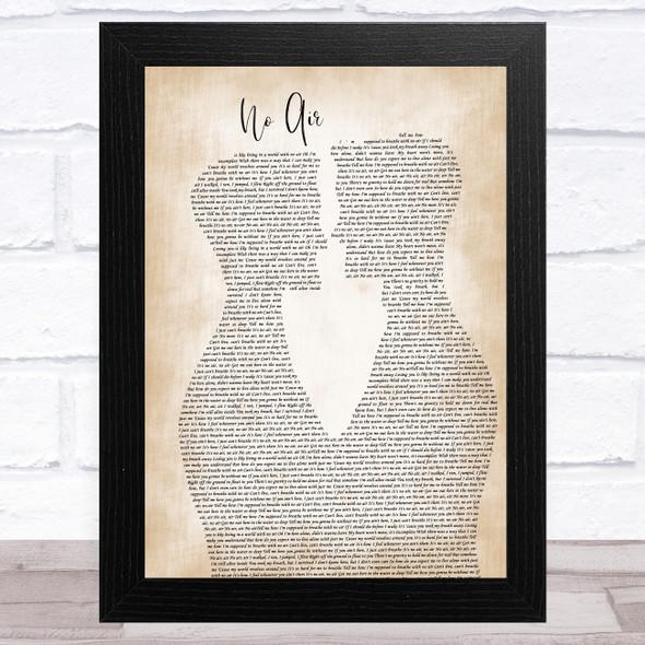 Jordin Sparks & Chris Brown No Air Two Men Gay Couple Wedding Song Lyric Music Art Print