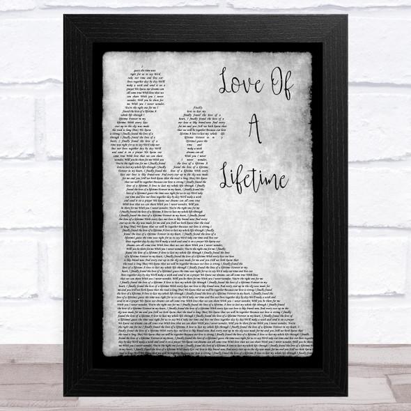 Firehouse Love Of A Lifetime Grey Man Lady Dancing Song Lyric Music Art Print