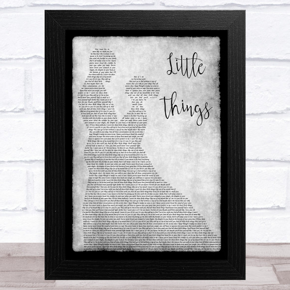One Direction Little Things Grey Man Lady Dancing Song Lyric Music Art Print