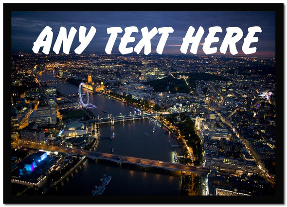 London At Night Personalised Computer Mousemat
