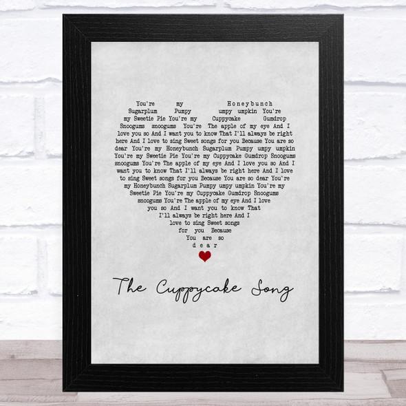 The Cuppycake Song Grey Heart Song Lyric Music Art Print
