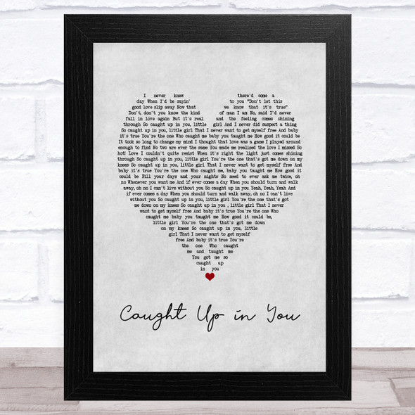 38 Special Caught Up in You Grey Heart Song Lyric Music Art Print