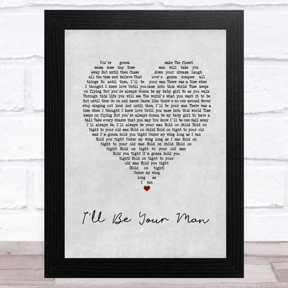 Zac Brown Band I'll Be Your Man Grey Heart Song Lyric Music Art Print