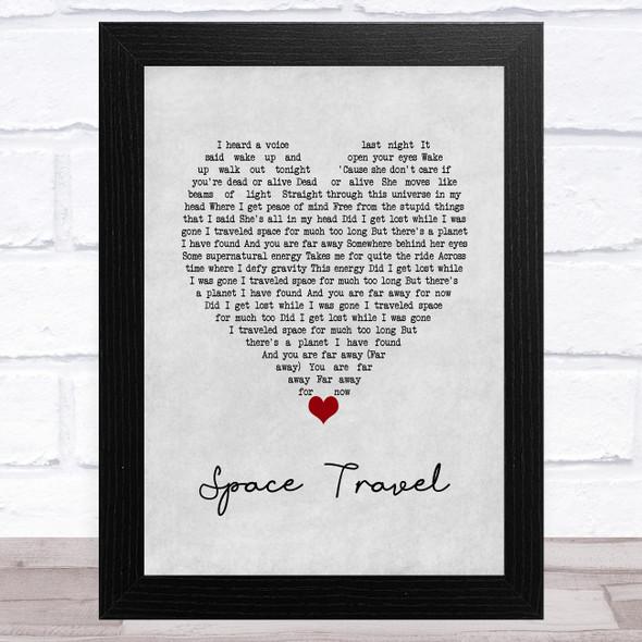 Yellowcard Space Travel Grey Heart Song Lyric Music Art Print