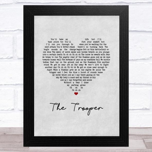 Iron Maiden The Trooper Grey Heart Song Lyric Music Art Print