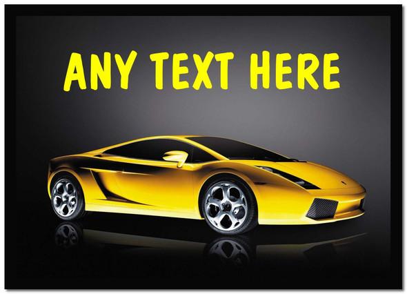 Yellow Lamborghini Gallardo Personalised Computer Mousemat