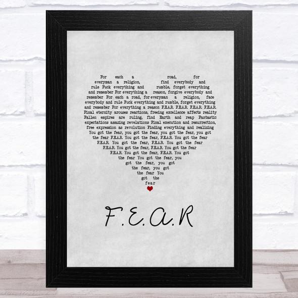 Ian Brown F.E.A.R Grey Heart Song Lyric Music Art Print