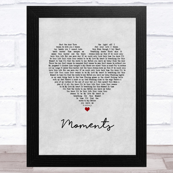 One Direction Moments Grey Heart Song Lyric Music Art Print