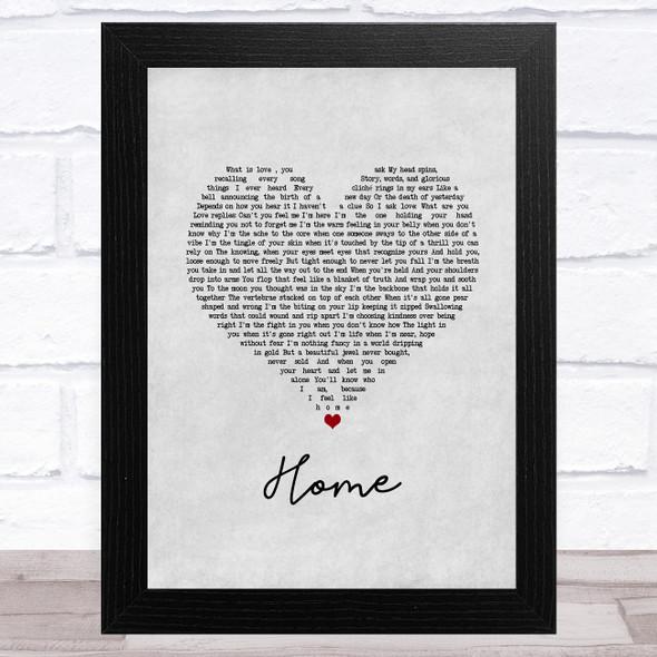 Imelda May Home Grey Heart Song Lyric Music Art Print
