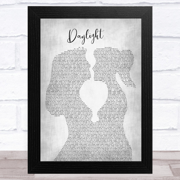 Taylor Swift Daylight Lesbian Women Gay Brides Couple Wedding Grey Song Lyric Music Art Print